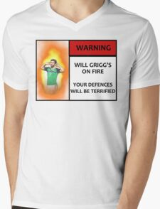 Will Grigg's on Fire! Your Defences Will Be Terrified Mens V-Neck T-Shirt