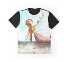 Shrimp Mermaid Graphic T-Shirt