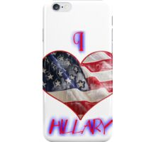 with hillary iPhone Case/Skin