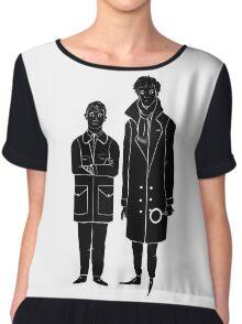 Sherlock and Watson Chiffon Top