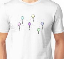 8-Bit Confetti and Balloons Unisex T-Shirt
