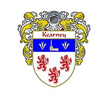 Kearney Coat of Arms/Family Crest Photographic Print