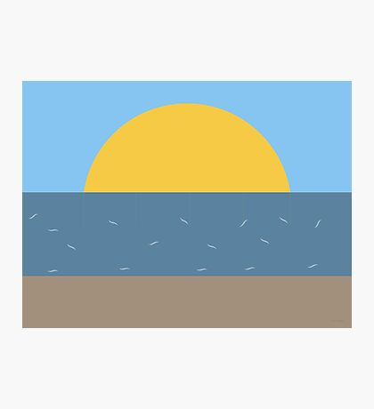 Sun Sea and Sand Photographic Print