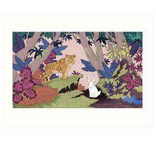Tiger & Rabbit Art Print