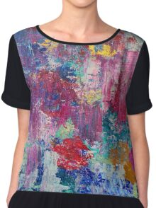 Absract colored painting 3 Chiffon Top