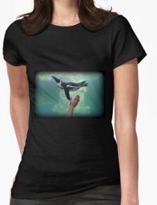 Penguin Toss Womens Fitted T-Shirt