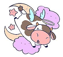 Cute Angel Cow Photographic Print