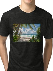 Boracay Beach under Clear Sky  Tri-blend T-Shirt