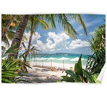 Boracay Beach under Clear Sky  Poster