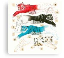 Borges Tigers Canvas Print