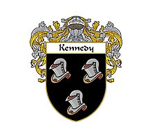 Kennedy Coat of Arms/Family Crest Photographic Print
