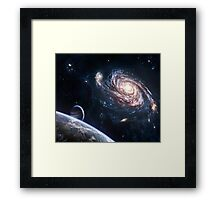 THE SILENCE OF UNIVERSE Framed Print