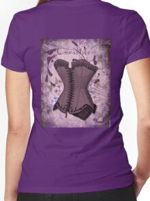 Corsetiere II Vintage elements fashion corset art Women's Fitted V-Neck T-Shirt