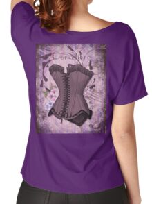 Corsetiere II Vintage elements fashion corset art Women's Relaxed Fit T-Shirt