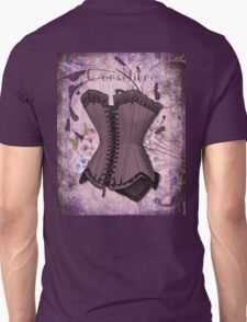Corsetiere II Vintage elements fashion corset art Unisex T-Shirt