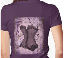 Corsetiere II Vintage elements fashion corset art Womens Fitted T-Shirt
