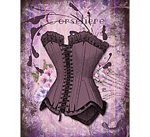 Corsetiere II Vintage elements fashion corset art Photographic Print