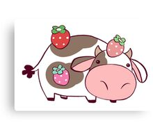 Strawberry Cow Canvas Print