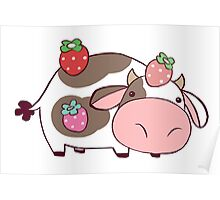 Strawberry Cow Poster