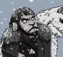 Sheep Snow Sticker