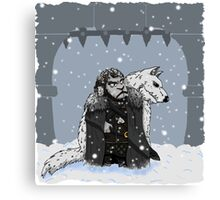 Sheep Snow Canvas Print