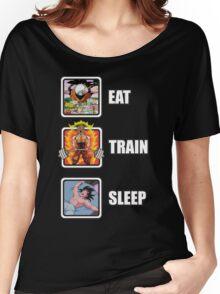 Eat, Train, Sleep (Deadlift) Women's Relaxed Fit T-Shirt