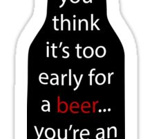A message in the beer  Sticker