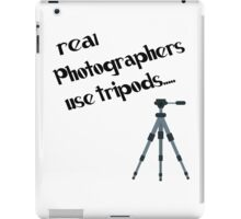 photographers use tripods iPad Case/Skin