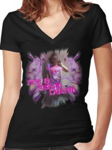 Its a Rave Dave Women's Fitted V-Neck T-Shirt