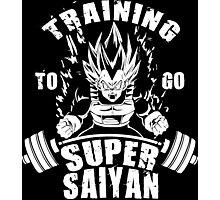 Training To Go Super Saiyan (Vegeta) Photographic Print