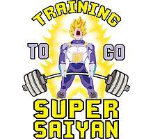Training To Go Super Saiyan (Vegeta Deadlift) Photographic Print