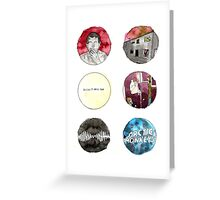 Arctic Monkeys Album Watercolour Doodles Greeting Card