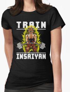 TRAIN INSAIYAN (Deadlift) Womens Fitted T-Shirt
