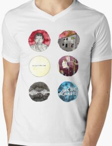 Arctic Monkeys Album Watercolour Doodles Mens V-Neck T-Shirt