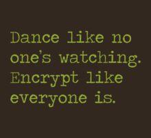 Dancing and encrypting by Herbert Shin