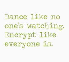 Dancing and encrypting Baby Tee
