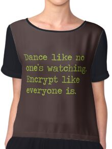 Dancing and encrypting Chiffon Top