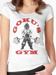 Goku's Gym (Black and Red) Women's Fitted Scoop T-Shirt