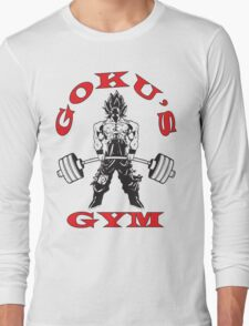 Goku's Gym (Black and Red) Long Sleeve T-Shirt