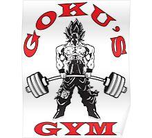 Goku's Gym (Black and Red) Poster