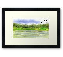 Nature's Morning View  Framed Print