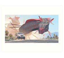 Car And Worms, near Amargosa Art Print