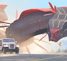 Car And Worms, near Amargosa by Simon Stålenhag