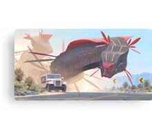 Car And Worms, near Amargosa Canvas Print