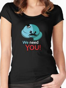 We need you! Women's Fitted Scoop T-Shirt