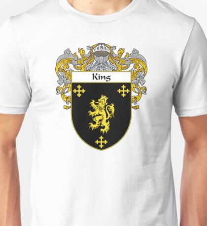 King Coat of Arms/Family Crest Unisex T-Shirt