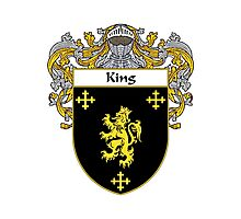 King Coat of Arms/Family Crest Photographic Print