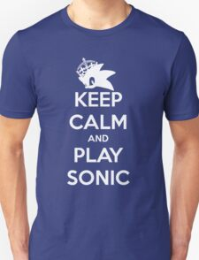 Keep Calm and Play Sonic Unisex T-Shirt