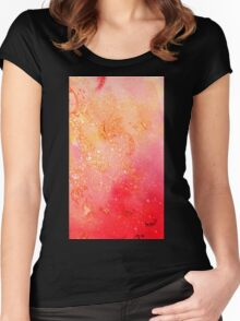 GARDEN OF THE LOST SHADOWS MAGIC GOLD SPARKLES Women's Fitted Scoop T-Shirt