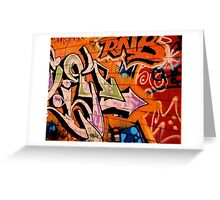 Graffiti Art Greeting Card